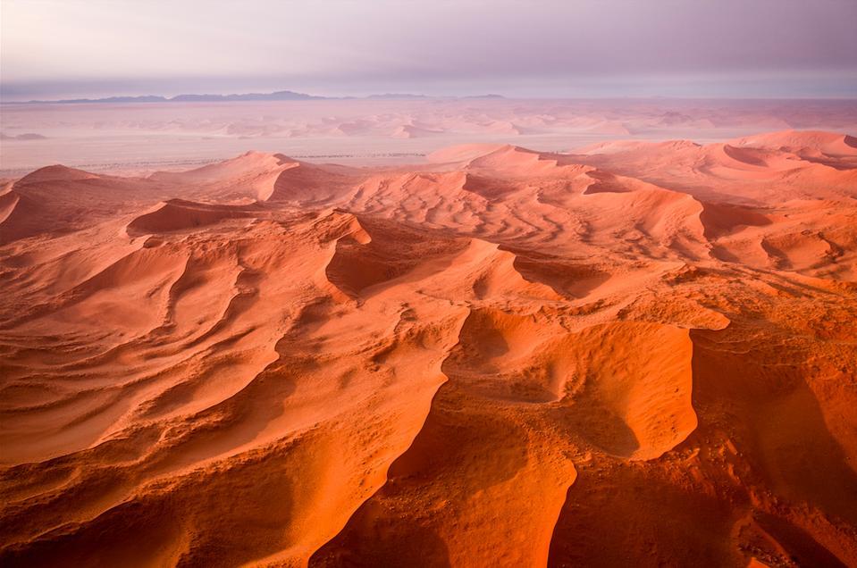 The vast desert landscape of Namibia.