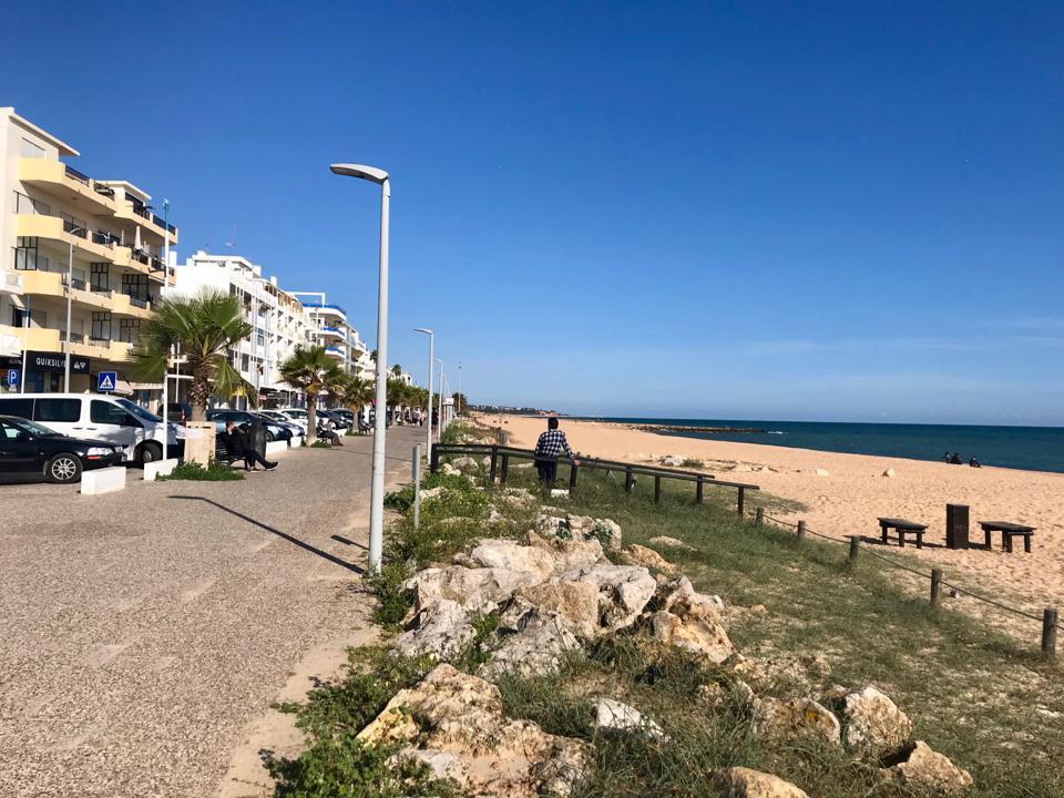 empty beach in Portugal