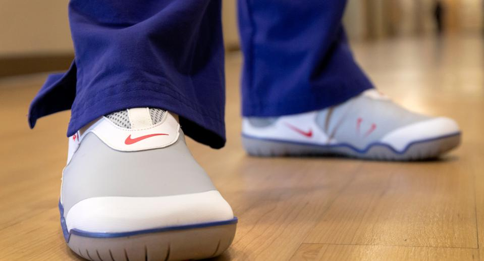 Designed for those who work on their feet all day, they have a springy foam in the midsole