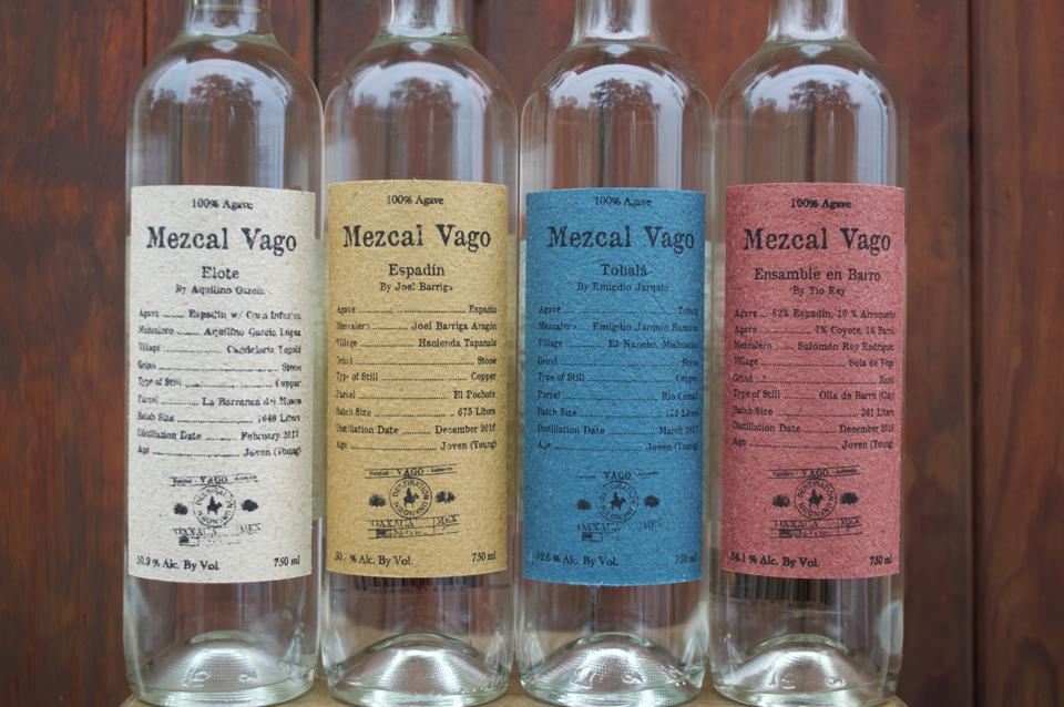 bottles of Mezcal