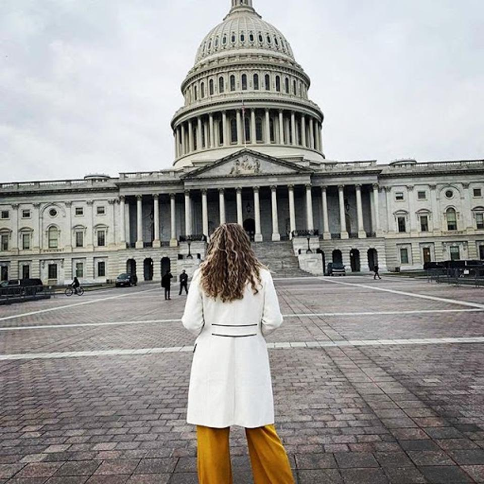 Kristen outside the U.S. Capitol during her internship.