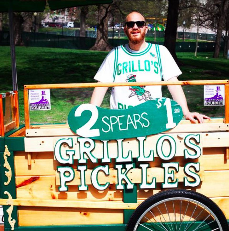Travis Grillo's first pickles were sold from a cart in Boston Commons.