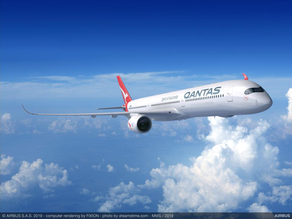 ″Project Sunrise″ Qantas A350-1000 rendering