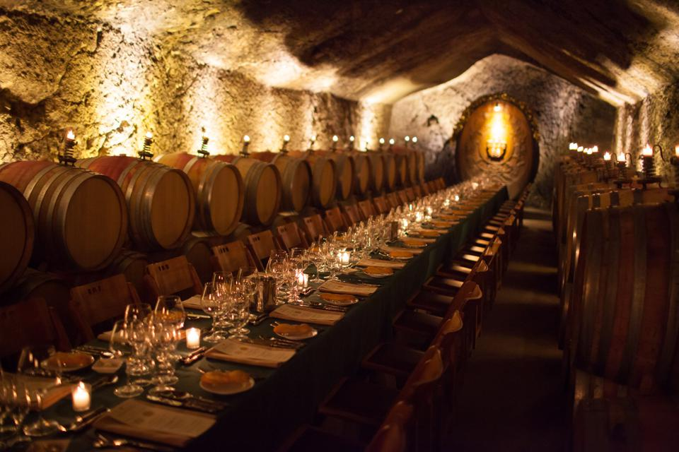 Candlelit dinner in the cellars of Buena Vista winery