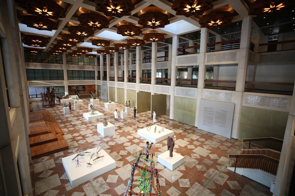 The lobby of The Abu Dhabi Cultural Foundation.