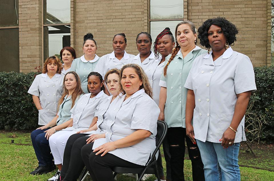 Housekeepers, members of UNITE HERE