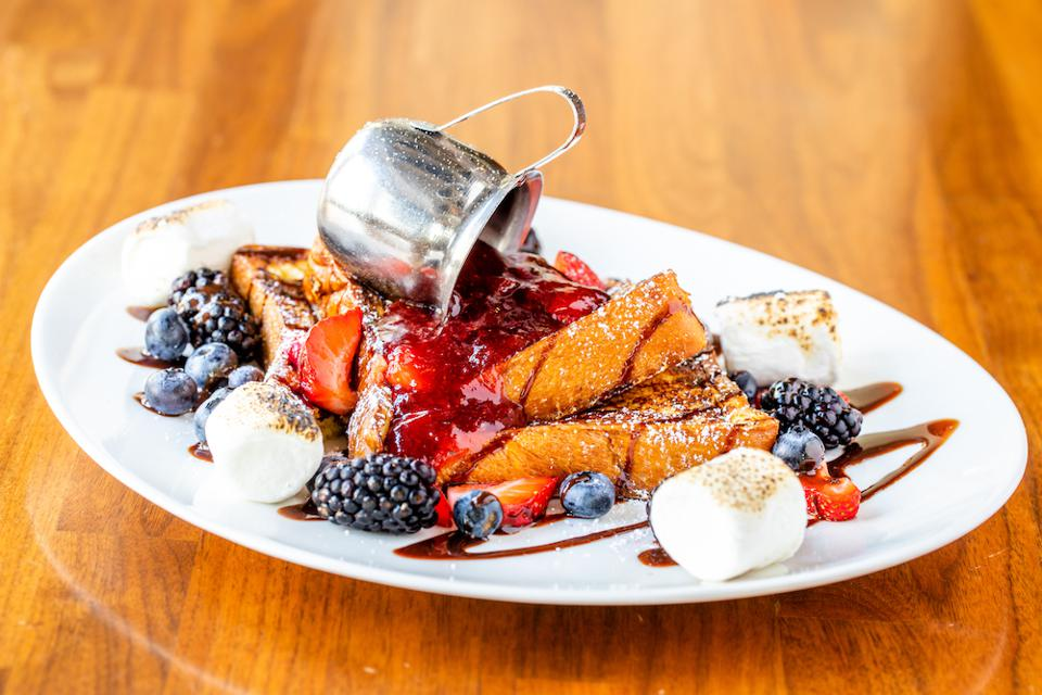raspberry s'mores French toast