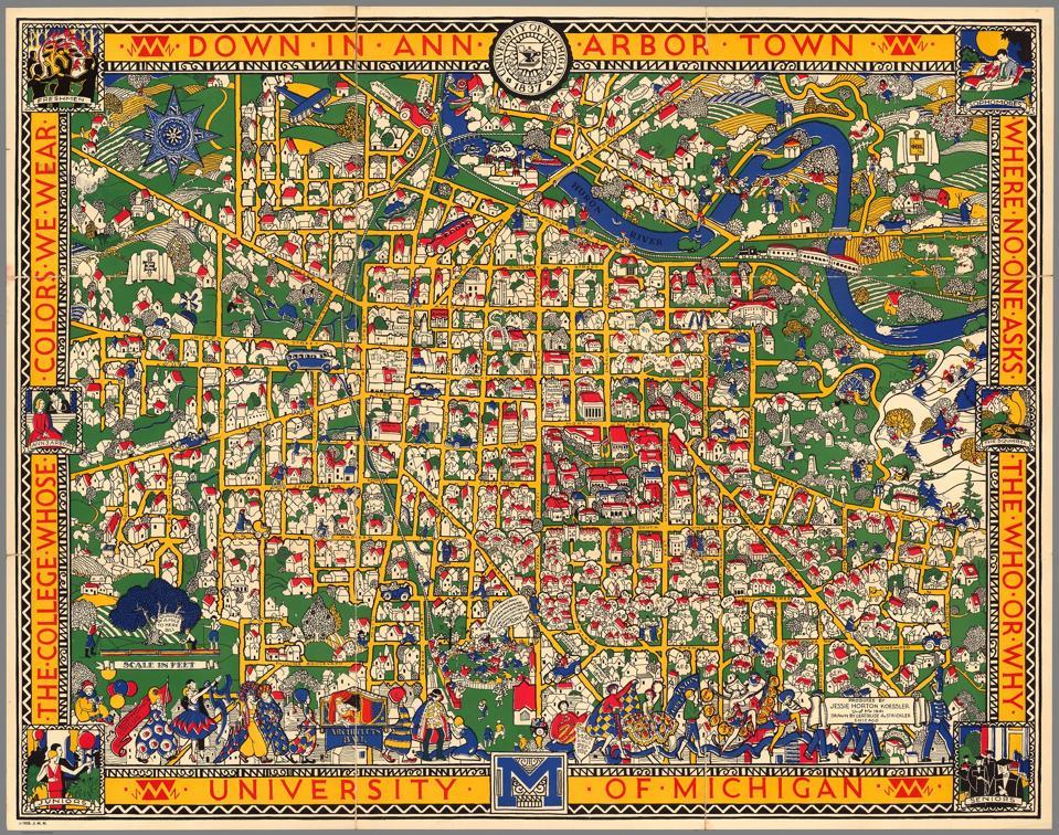 A University of Michigan campus map