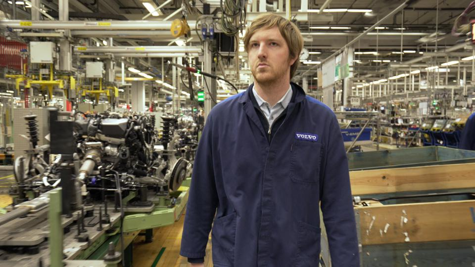 Luminar CEO and founder Austin Russell at a Volvo factory in Gothenburg, Sweden.