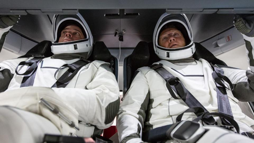Astronauts in Crew Dragon