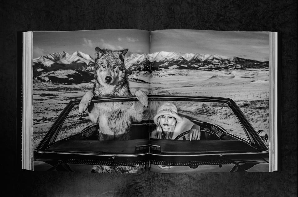 Inside David Yarrow's 2019 released coffee table book.