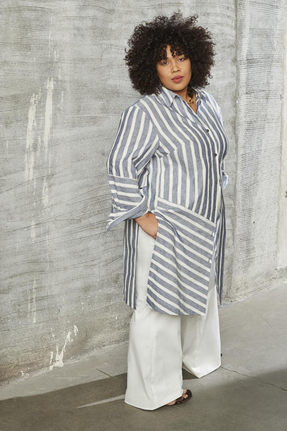 Blue and White Stripe Tunic