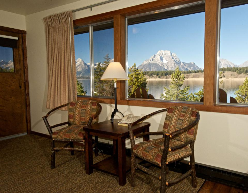 A view of the mountains from Signal Mountain Lodge in Grand Teton National Park.