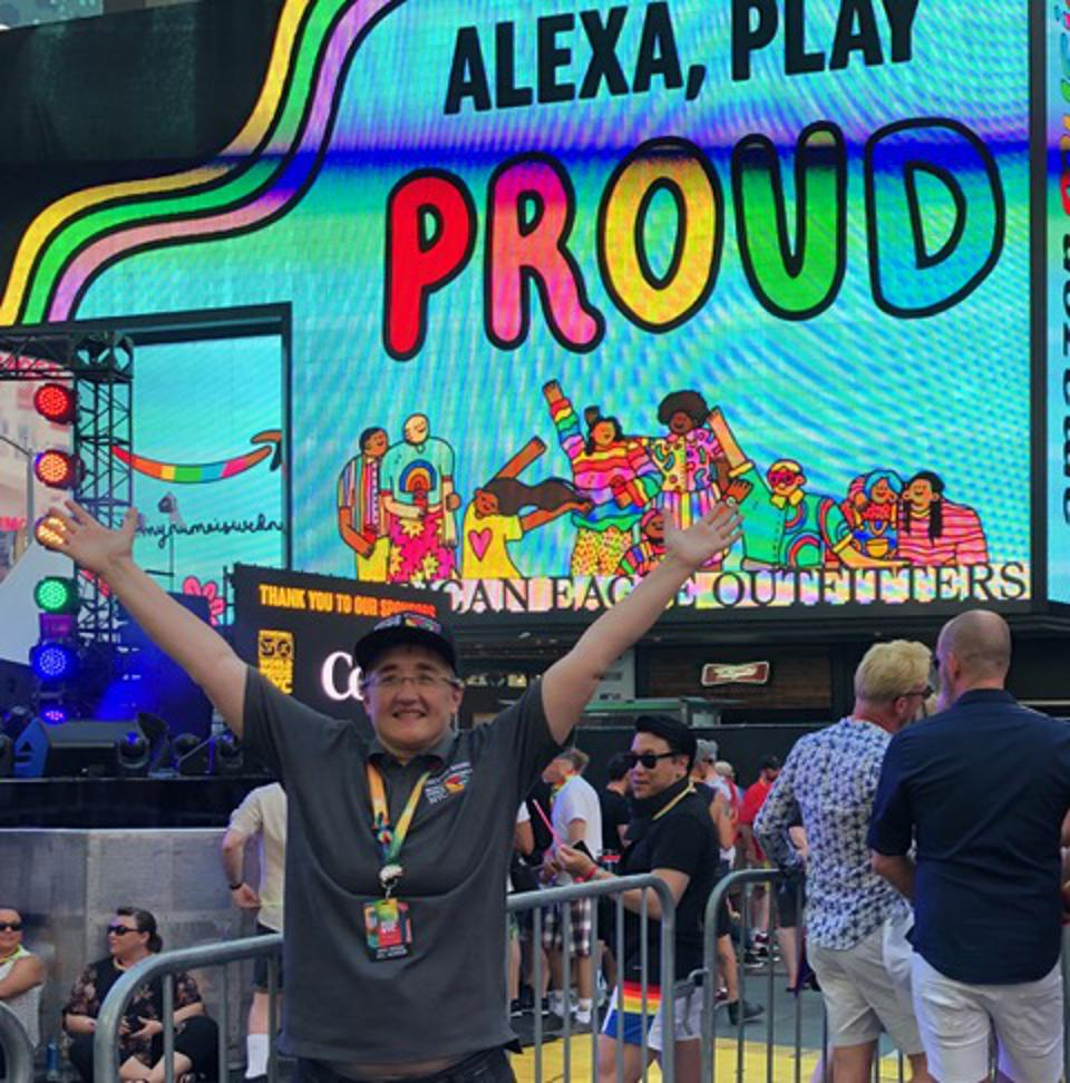 Cathy Renna at World Pride in NYC