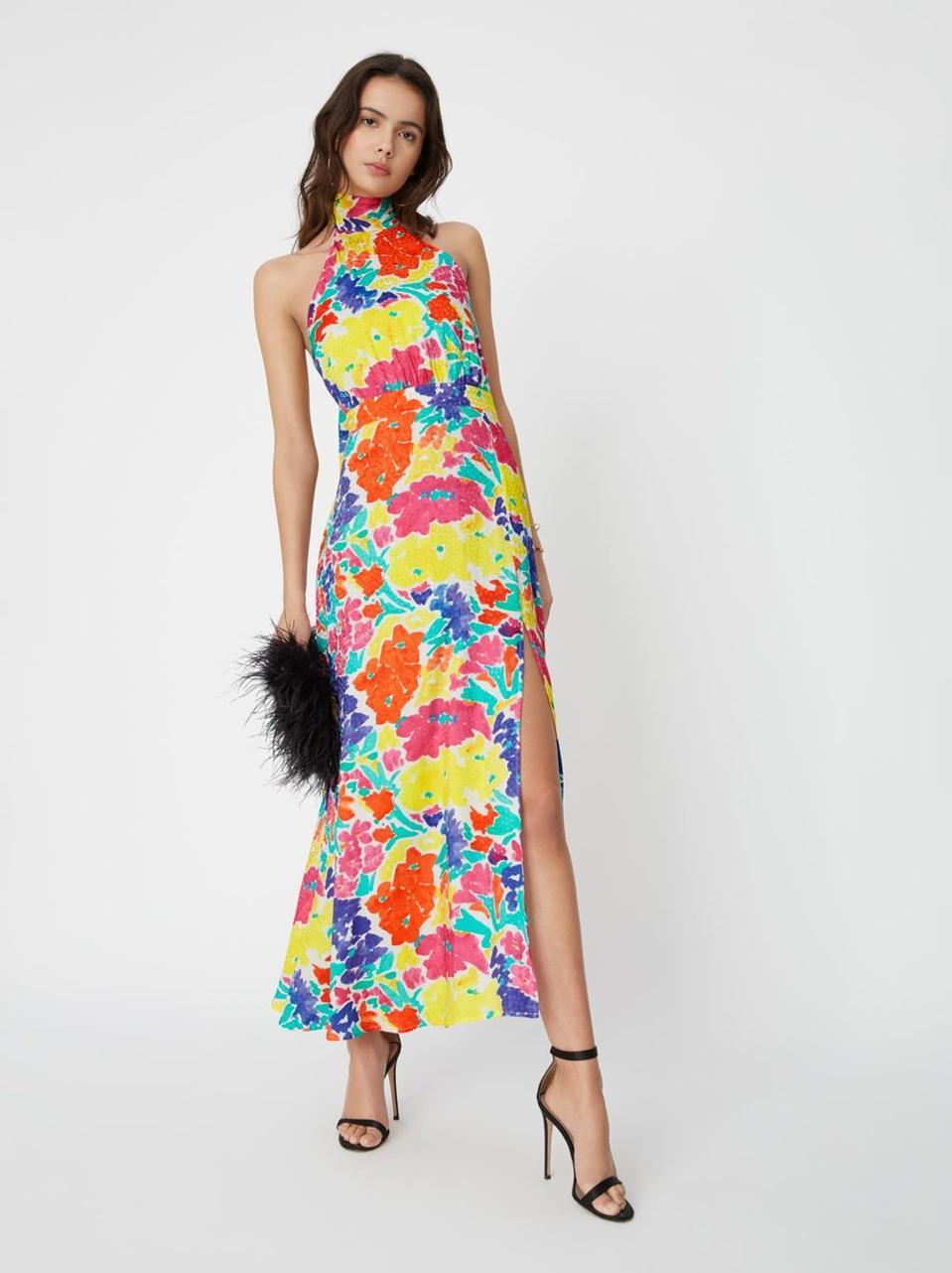 Vera Printed Jacquard Maxi Dress by Kitri