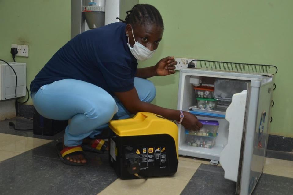 Vaccine fridges are part of the medical equipment being powered by solar energy in Nigeria