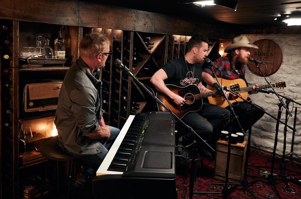 Phil Vassar and Brothers Osborne recording an episode of ″Songs from the Cellar.″ The show is produced by NashPhil Cellars and The Nice Kids and airs on The Circle Network where available