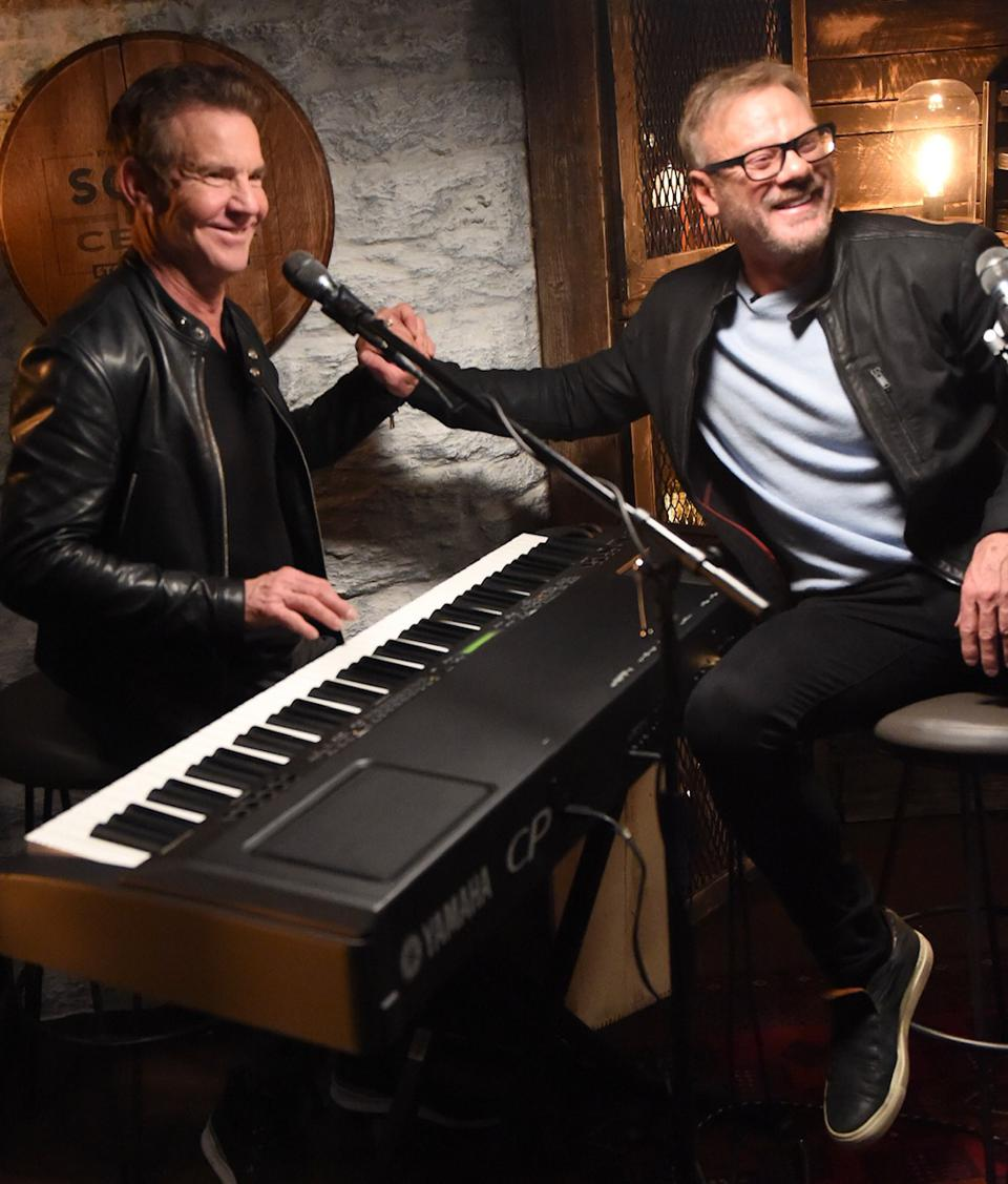 Dennis Quaid and Phil Vassar during a recording of ″Songs from the Cellar.″