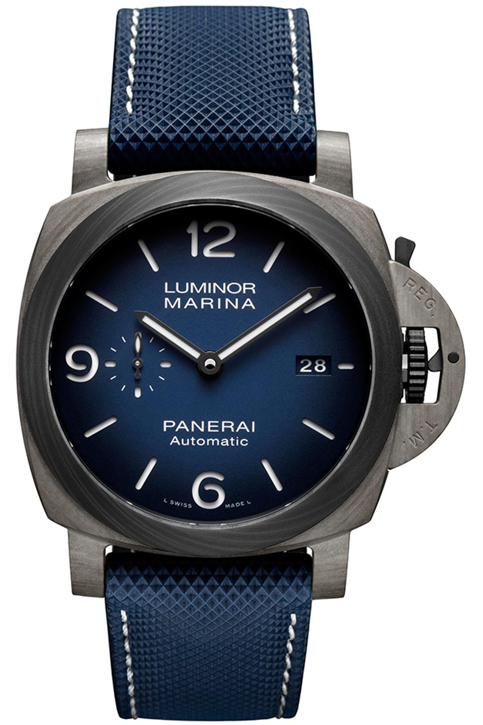 The Panerai Luminor PAM1663 with Fibratech case and Carbotech bezel.