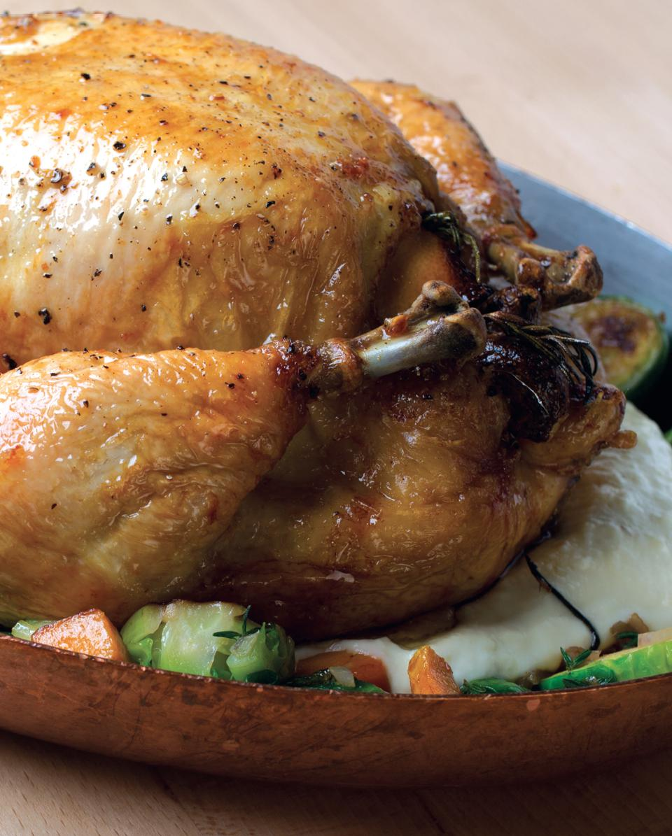 Robert Irvine's roast chicken