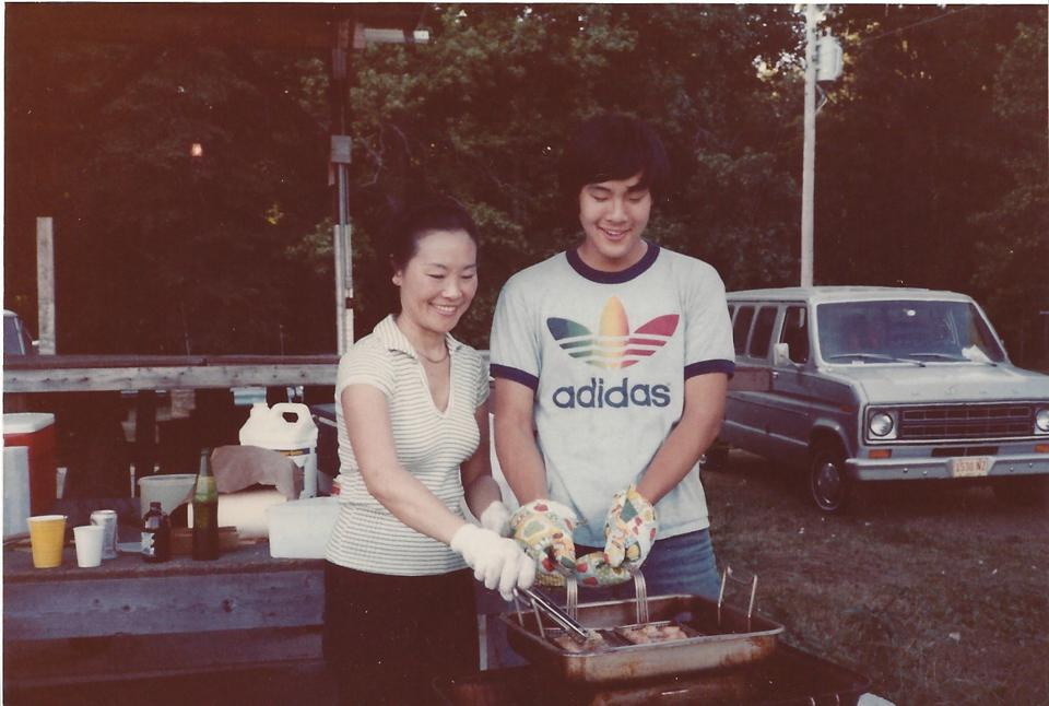 Ming Tsai grew up cooking with his mom.