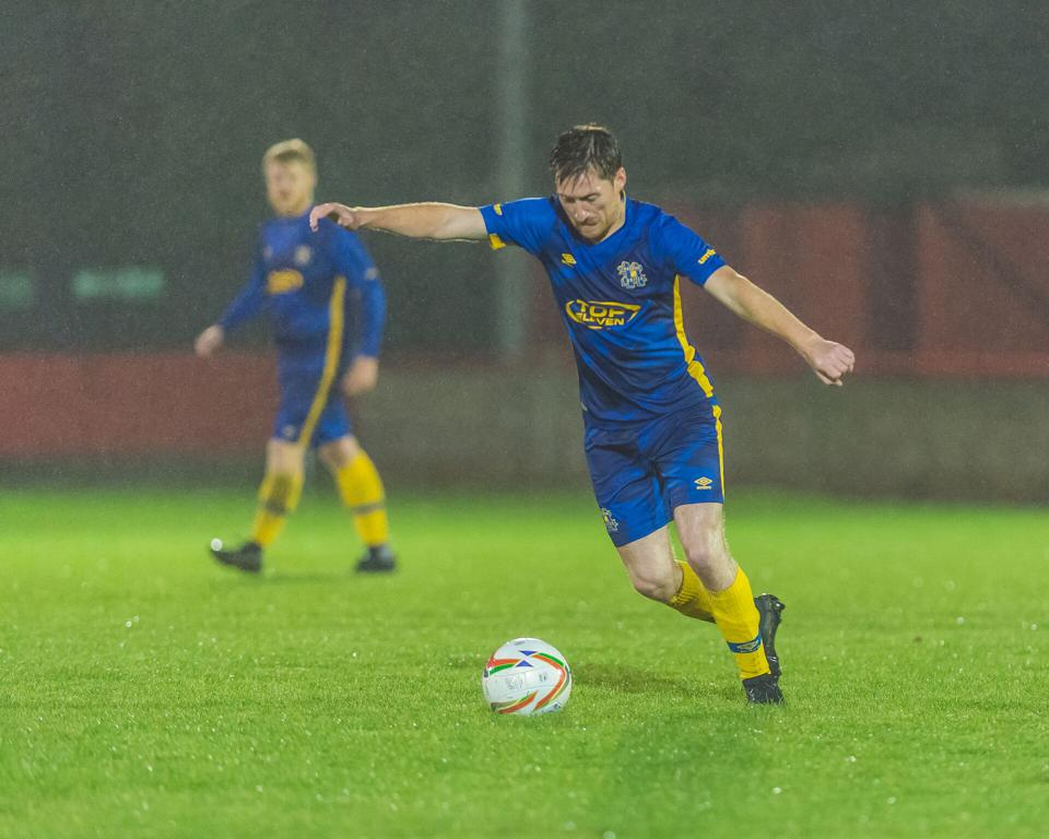 Chairman Seb Carmichael-Brown in action for Hashtag United