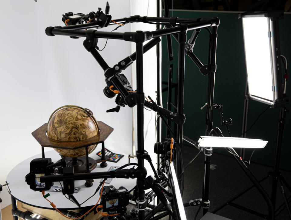 Digitisation of historical globes at the British Library. Copyright British Library Board.