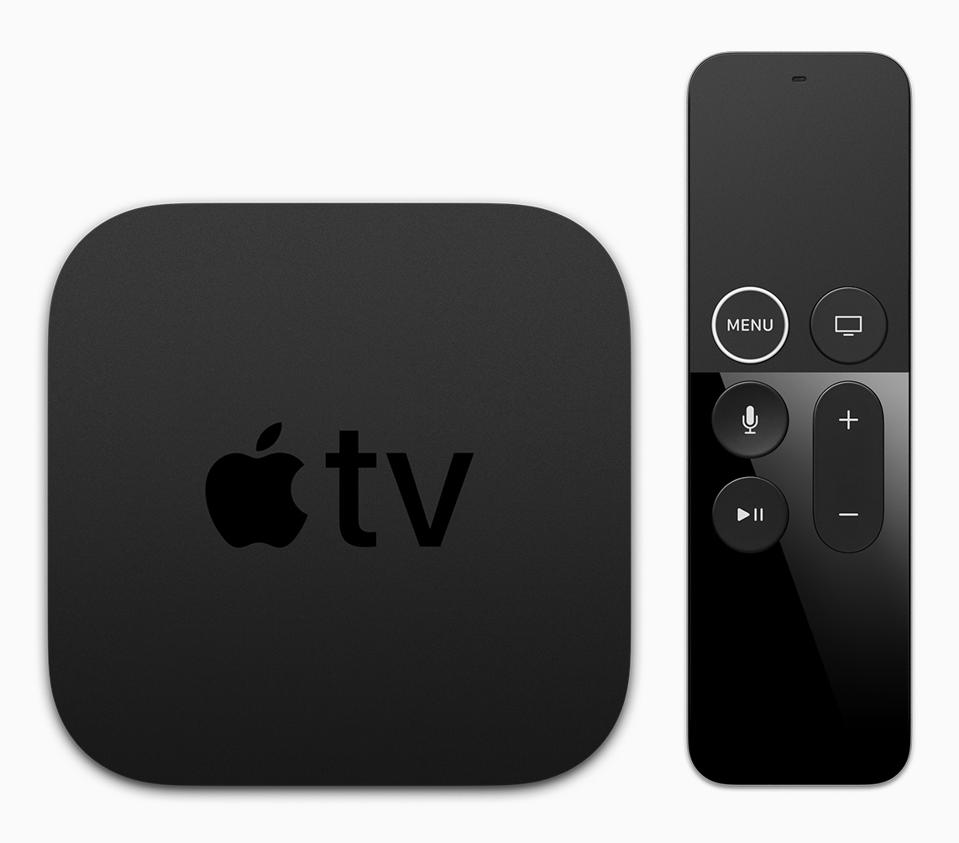 The current Apple TV 4K streaming device.
