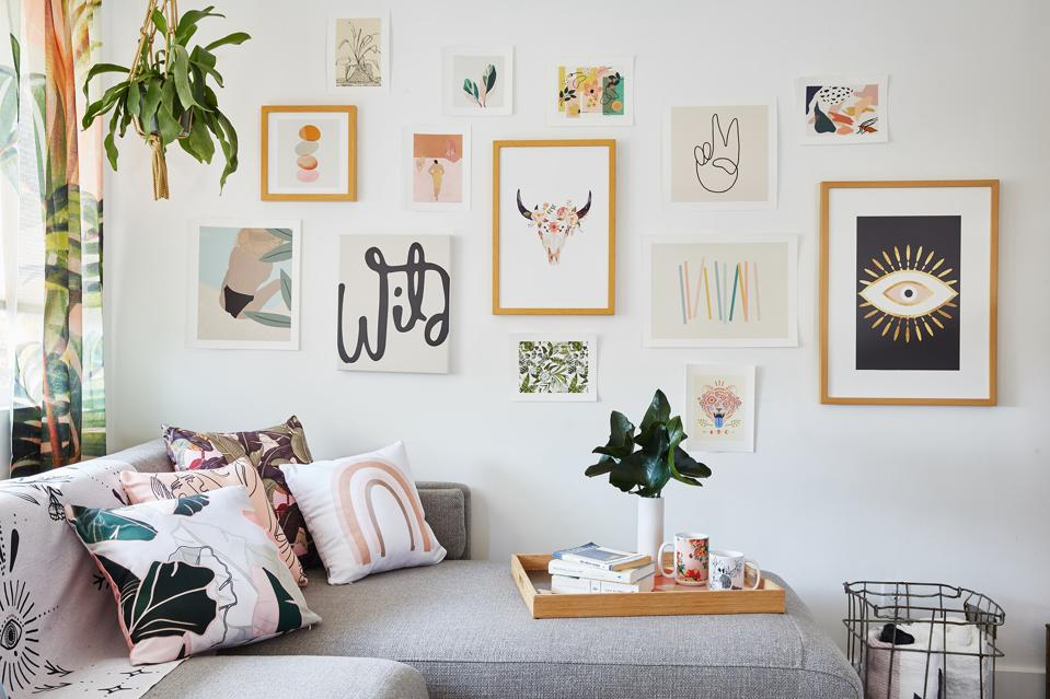 A wall arrangement from Society 6.