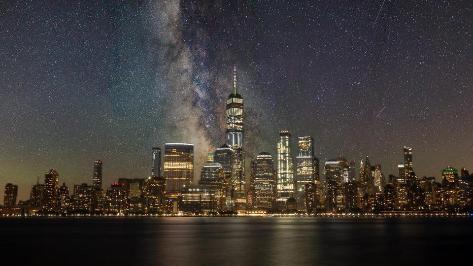 New York City as it could look without light pollution – NOT a real photo!