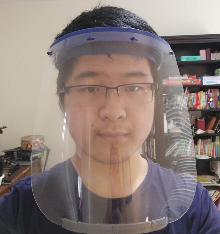 Andrew, 3D-printed face shields