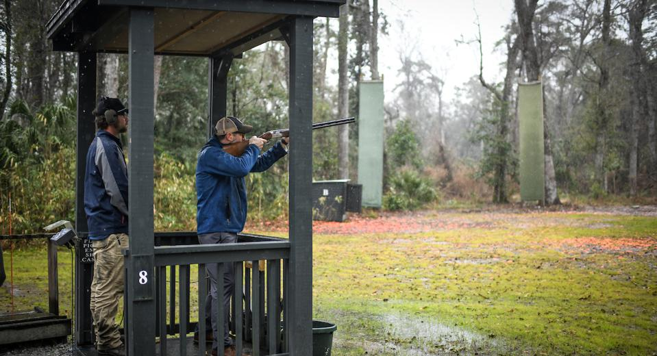 The Palmetto Bluff Shooting Club offers a shooting school, including one tailored specifically for people who are new to the world of shooting clays.