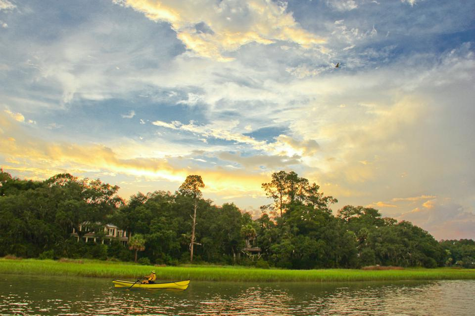 Water sports such as kayaking, standup paddle boarding and canoeing can be enjoyed on its miles of water trails that meander throughout the property.