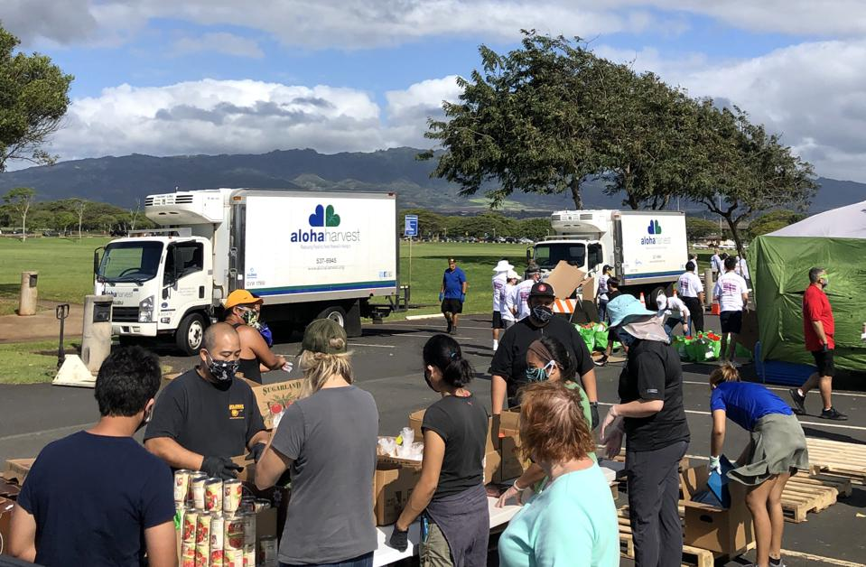 Meal drop off location for Aloha Harvest and Chef Hui