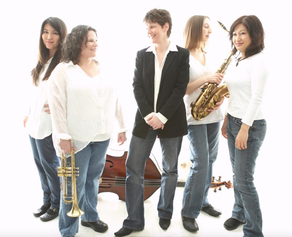 Five musicians from The DIVA Jazz Orchestra