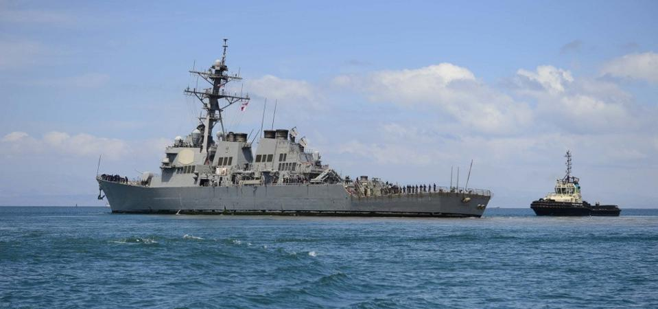 USS Ramage (DDG 61) departs the Horn of Africa on February 24, 2020