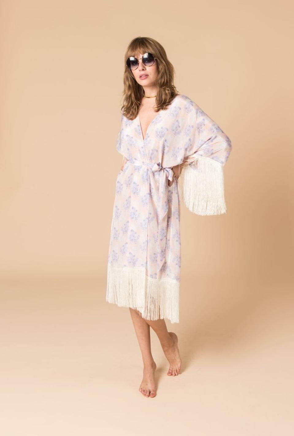 Violet's Whisper Kimono by Athena Procopiou