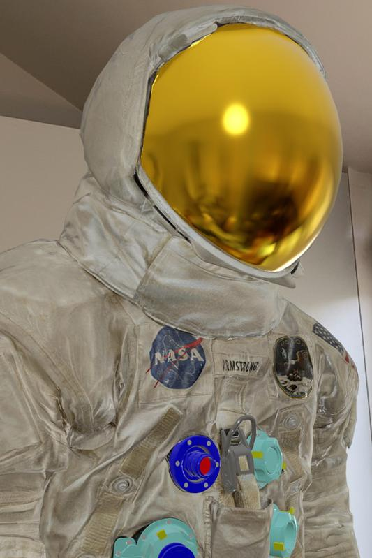 The Neil Armstrong spacesuit, as digitized by the Smithsonian Digitization Program.