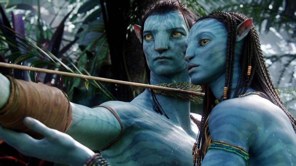 Sam Worthington and Zoe Saldana in James Cameron's 'Avatar'