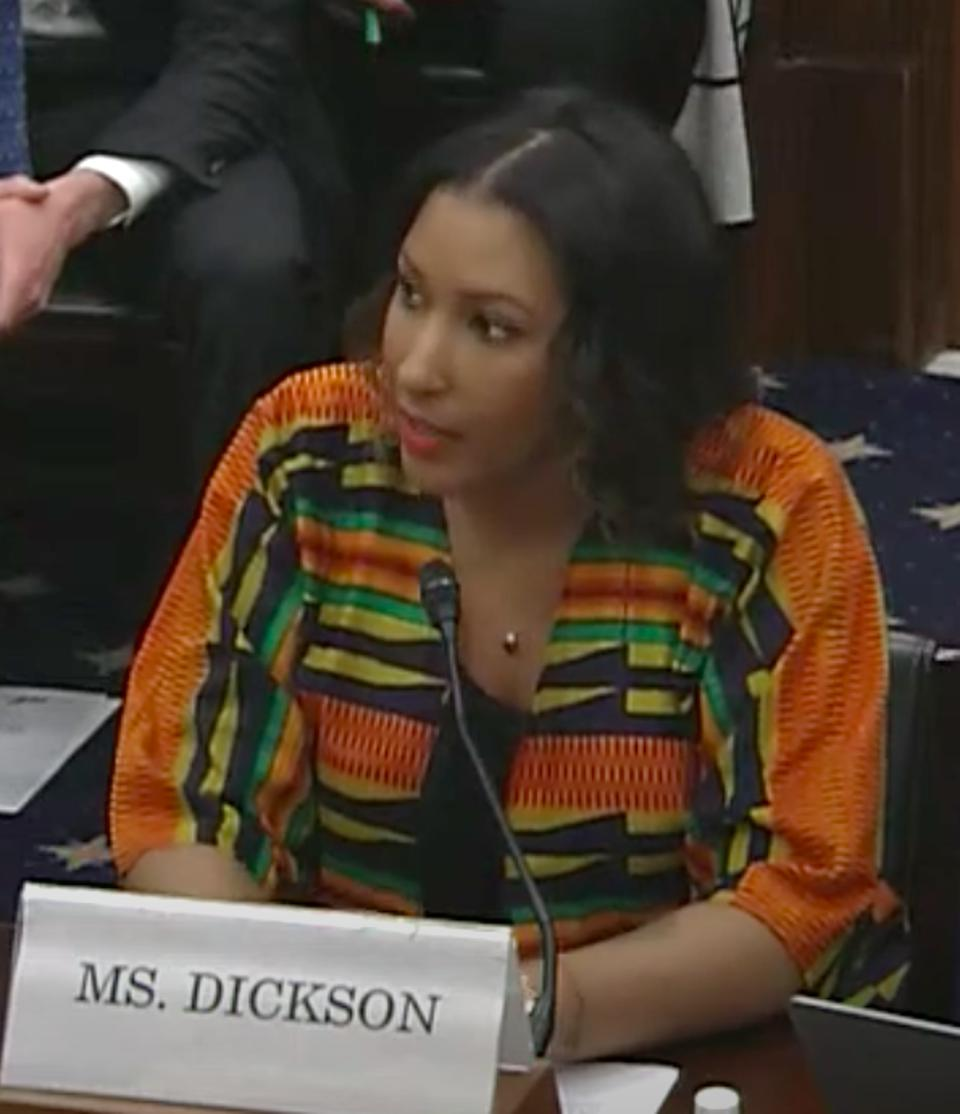 Dawn Dickson, Founder and CEO of PopCom, testifying at a U.S. Small Business Committee Hearing on March 4 called 'Building Blocks of Change: How Small Businesses Can Benefit From Blockchain Technology'