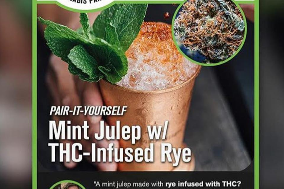 a perfectly delicious THC infused mint julep for Derby Day