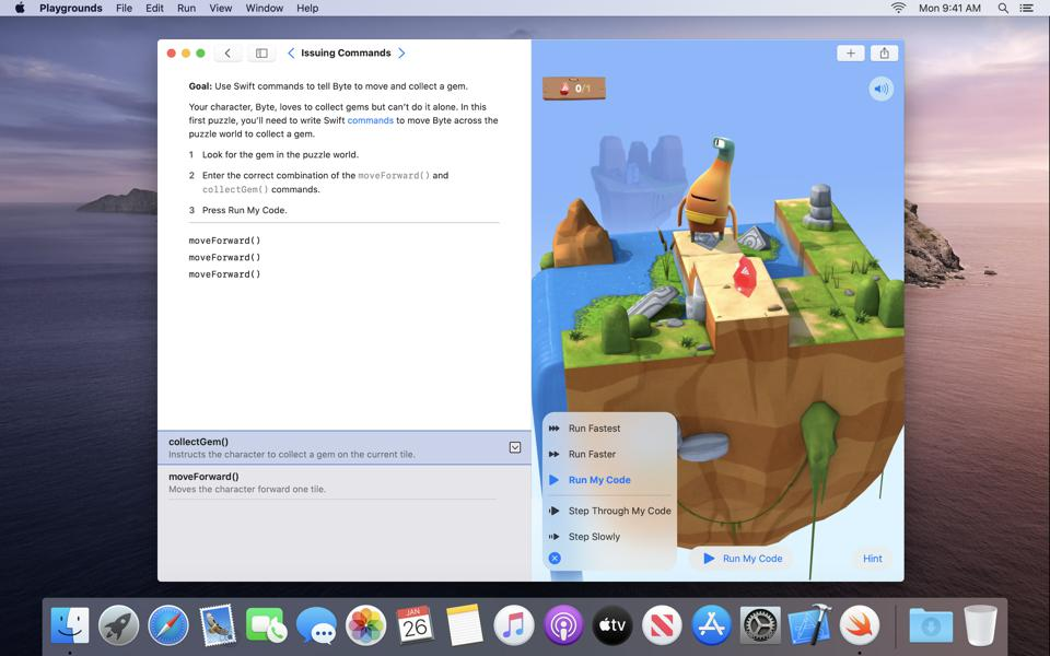 The Swift Playgrounds app launched on iPad first, but a Mac version followed a year later.