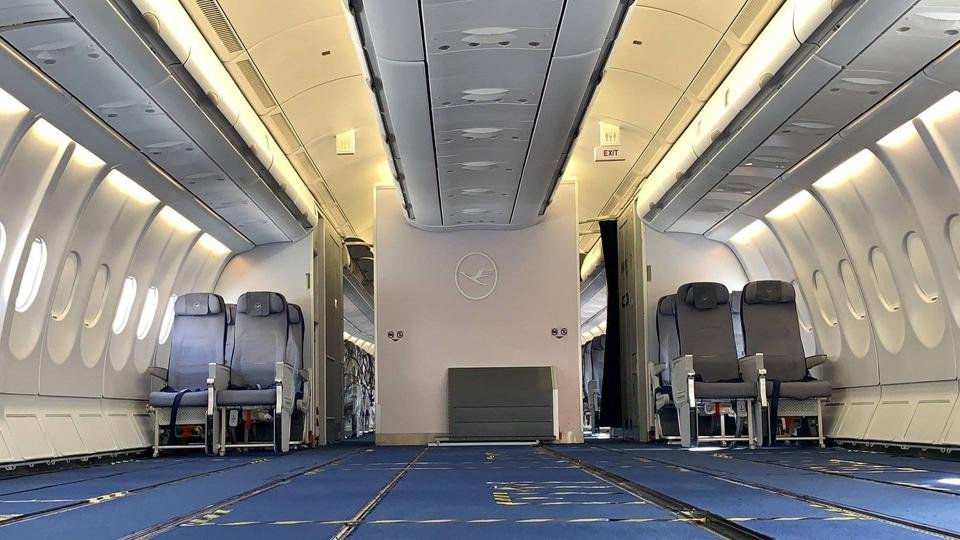 Lufthansa removed most seats from four A330s in order to create more room for cargo