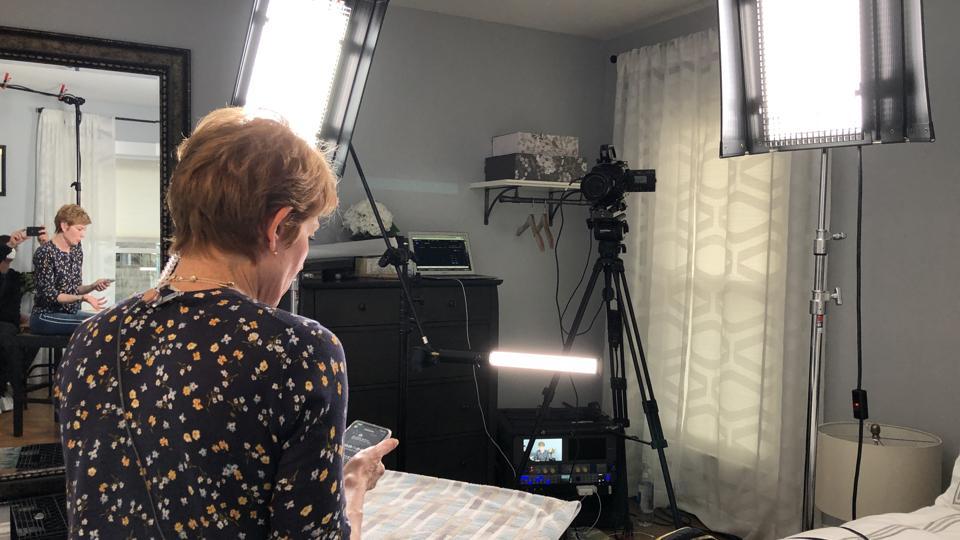 Economist Diane Swonk in her home studio