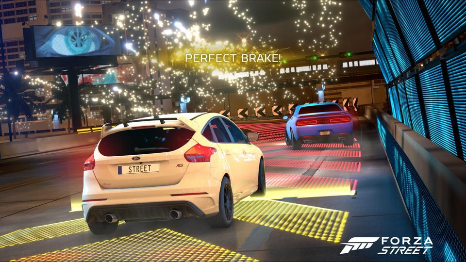 Forza Street perfect brake