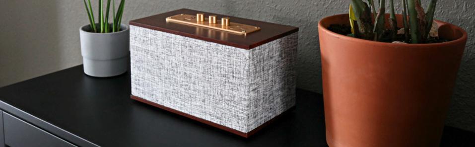 A Crosley bluetooth speaker.