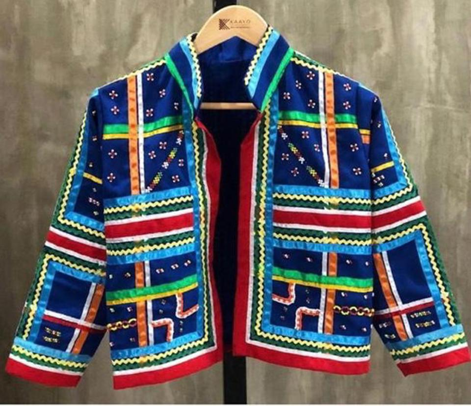 Hand woven jacket by KAAYO
