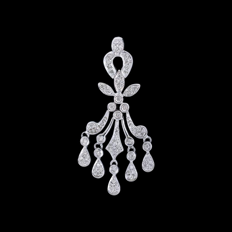 Diamond Chandelier earrings at the GAVEL & BLOCK Benefit Auction