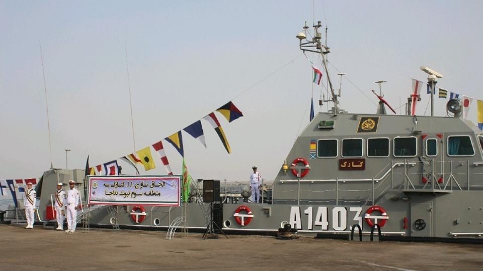 The Hendijan-class auxiliary support vessel Kenarak (A-1403)