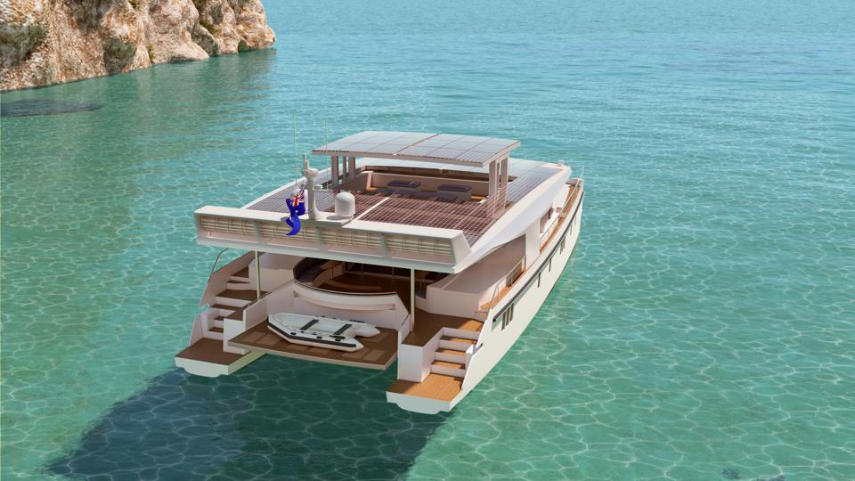 Solar powered yachts serenity yachts cutting edge yachts